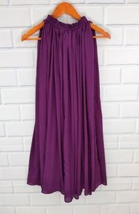 Hazel purple billowy sleevess goddess dress